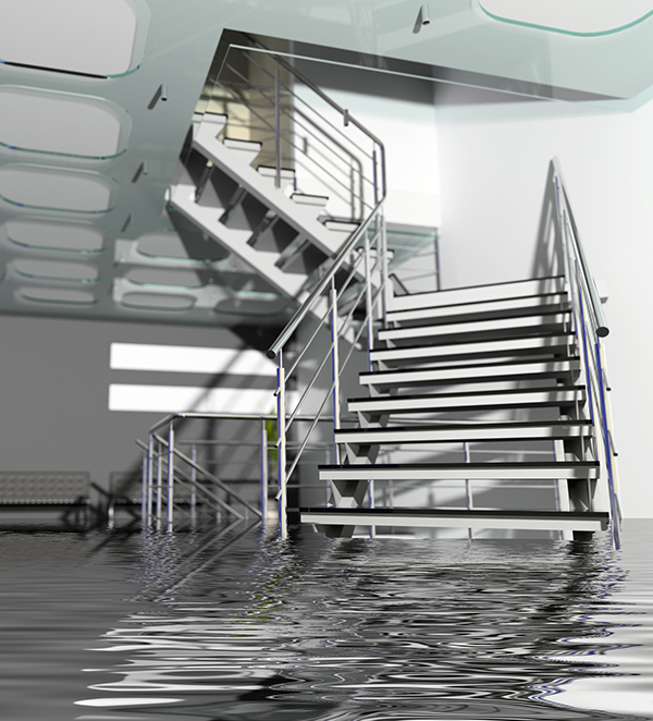 office staircase water damage   How to Hire a Reputable Restoration Company   Amerestore
