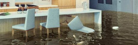 Flooded kitchen with floating chair | Amerestore