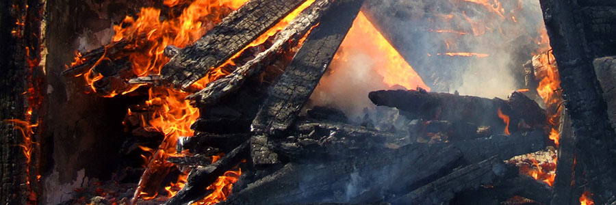 Burning wood with fire and smoke   Amerestore