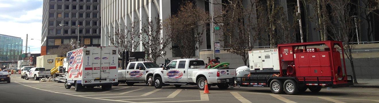 Trucks in front of building | Amerestore