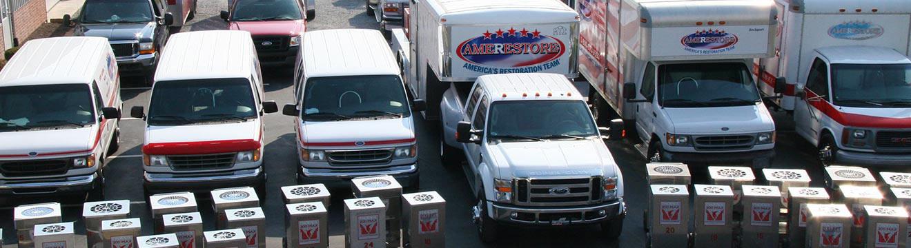 Lineup of trucks and vans | Amerestore